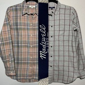 """BUNDLE""""MADEWELL"""" Womens Small Flannels"""